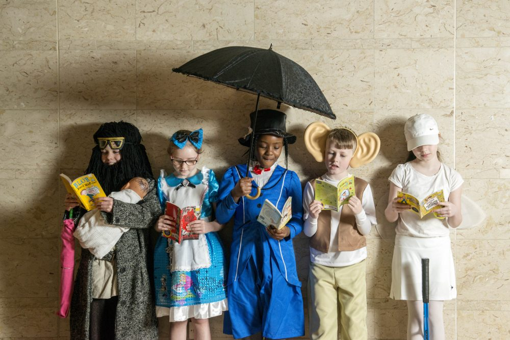 Pupils from Saint Rose of Lima School in Glasgow celebrate World Book Day